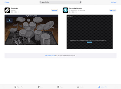 Senstroke et Senstroke Updater sur l'App Store