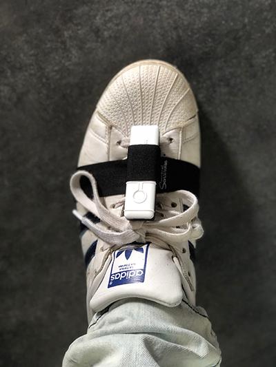 Installation des capteurs sur les pieds
