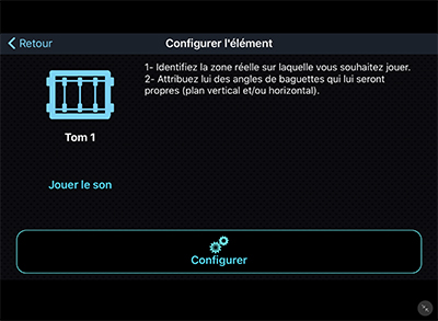 Configurer le tom 1